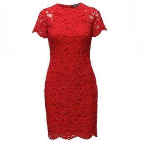 EUC Lauren Ralph Lauren Pink Lace Dress